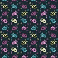 skalbagge färgstarka mönster bakgrund med pastellfärg