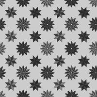Mönster form stjärn bakgrund med mörk färg vektor