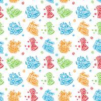 Alles Gute zum Geburtstag Hand gezeichneter Muster Hintergrund