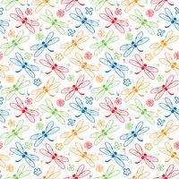 dragonfly färgstarka mönster bakgrund