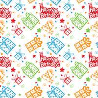 bunter alles Gute zum Geburtstagmuster Hintergrund