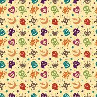 Süße Halloween Muster Hintergrund