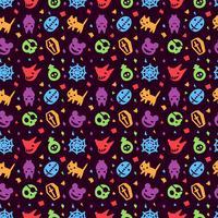 söt hallowen mönster bakgrund vektor