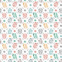 Gesicht Emotion Hand gezeichnete Muster Hintergrund vektor