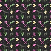 söt halloween mönster bakgrund vektor