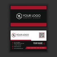 Moderne kreative und saubere Visitenkarte-Schablone mit rotem blackcolor vektor