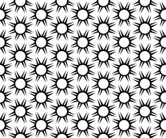 Vektor sömlöst mönster. Svartvitt Repeterande geometriska mönster