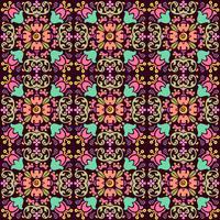 nahtloses Blumenmuster mit glattem Farbhintergrund