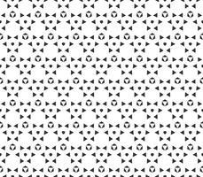 Abstrakt geometrisk sömlös mönster. Upprepande geometrisk svartvit struktur.