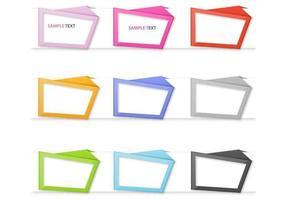 Origami Rahmen Vektor Pack
