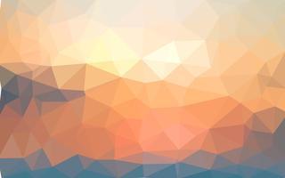 Hellgelber Sommervektor Niedriger Polykristallhintergrund. Polygon