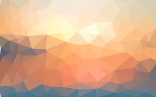 Ljus gul sommar vektor Låg poly kristall bakgrund. Polygon
