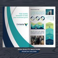 business fold broschyr vektor
