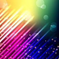 Licht mit Bokeh Hintergrund mit Regenbogenfarbe