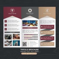 Trifold Business Fold-Broschüre vektor