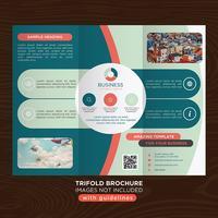trifold business fold broschyr vektor