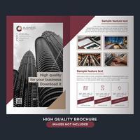 Business Fold-Broschüre vektor
