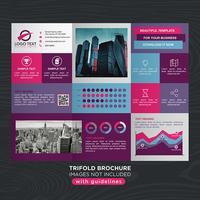 Färgrik Trifold Business Fold Broschyr vektor