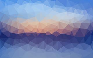 Ljusblå vektor Låg poly kristall bakgrund. Polygon design pa