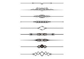 Dekorativ Divider Vector Pack