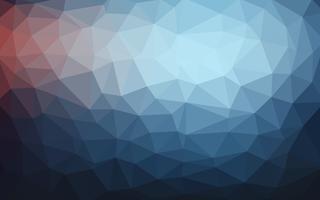 Hellblauer dunkler Vektor Niedriger Polykristallhintergrund. Polygon desi