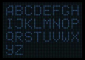 digitalt ledat ljus alfabet vektorpack