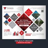 Square Business Fold Broschyr