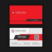 Modern kreativ och ren visitkort med röd svart vektor