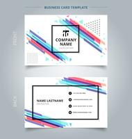 Namecard mall färgrik geometrisk mönster stil abstrakt bakgrund. vektor