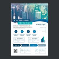bluel flyer affärer broschyr design vektor