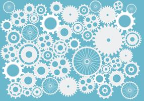 Zahnräder und Zahnräder. abstrakter Hintergrundvektor im Blau auf getrenntem Hintergrund