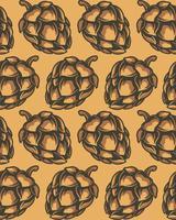 Nahtloses Muster von Hopfenzapfen