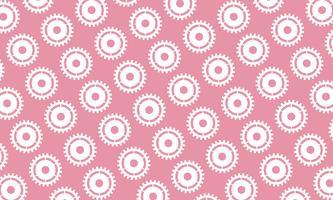 Abstrakter Hintergrund von Zähnen und von Gängen auf rosa Hintergrund. Design-Vektor-Illustration.