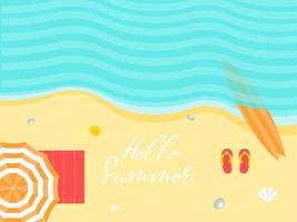 Sommerferien, Sommerstrandplakat-Vektorillustration vektor