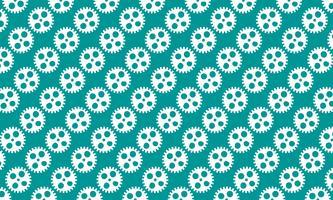 Abstrakter Hintergrund von Zähnen und von Gängen auf grünem Hintergrund. Design-Vektor-Illustration.