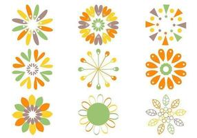 Retro Blumen-Vektor-Pack