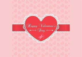 Lace Valentinsdag bakgrundsvektor
