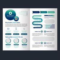 Blå affärer fold broschyr