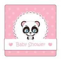 Söt tecken för baby shower med panda