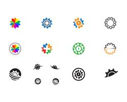 Gear Logo Mall vektor ikon