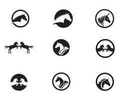 Hästlogo Mall Vector-ikon
