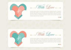 Liebe Banner Vektor Pack