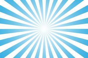 Tecknade stilen blå och vit bakgrund. ger känslan av morgonsolen Börja dagen. vektor