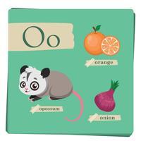 Buntes Alphabet für Kinder - Buchstabe O vektor