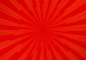 Roter abstrakter komischer Karikatur-Sonnenlicht-Hintergrund. Vektor-Illustration Design. vektor