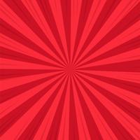 Roter abstrakter komischer Karikatur-Sonnenlicht-Hintergrund. Vektor-Illustration Design.