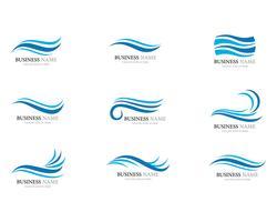 Wellenlogo und Symbol Vektor