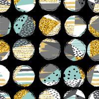 Abstrakt geometrisk sömlös mönster med handdragen texturer.