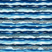 Vektor hav sömlösa mönster med handdragen texturer. Modern abstrakt design