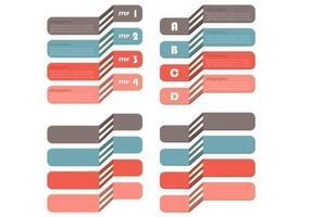 Gestufter Infografik-Vektor-Pack vektor